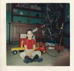 (ABOVE) Me on Christmas 1966 with my favorite toy that year the Johnny Express with the jack and spare tire kit. (BELOW) Two of my children enjoying my new ...